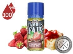 Famous Fair Strawberry Pound Cake 100ml Eliquid