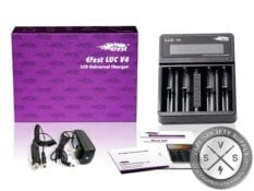 Efest LUC V4 - 4 Bay LCD Charger with Car Charger